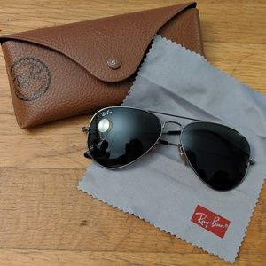 Ray-Ban Aviator Sunglasses green classic lenses